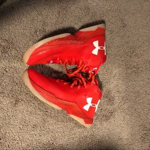 Under Armour Red Boys Sneakers